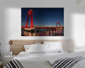Die Willems Brücke in Rotterdam von Charlene van Koesveld