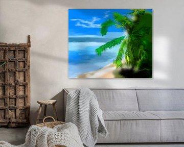 Beach Palm von l'artiste passionné l'artiste