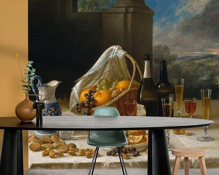Beispiel fototapete: Mittagessen-Stillleben, John F. Francis