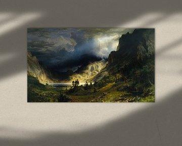Sturm in den Rocky Mountains, Albert Bierstadt