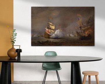 Seeschlacht im Englisch-Niederländischen Krieg, Willem van de Velde der Jüngere