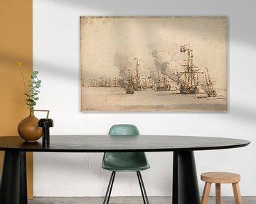 Seeschlacht bei La Hogue, Willem van de Velde der Jüngere