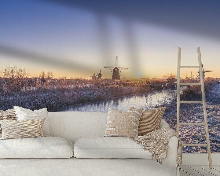 Sfeerimpressie behang: Winterlandschap van Maikel Brands