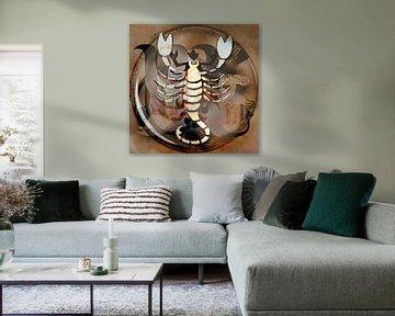 Konstellation Skorpion von Kirsti's Kunst