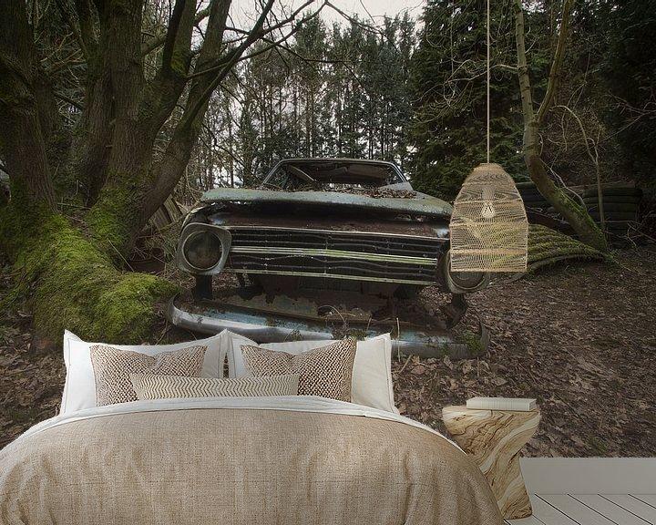 Beispiel fototapete: Verlassenes Auto von Kristof Ven