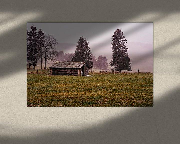 Beispiel: Een verlaten schuur op de heuvels van de Ardennen in België. von Ineke Mighorst