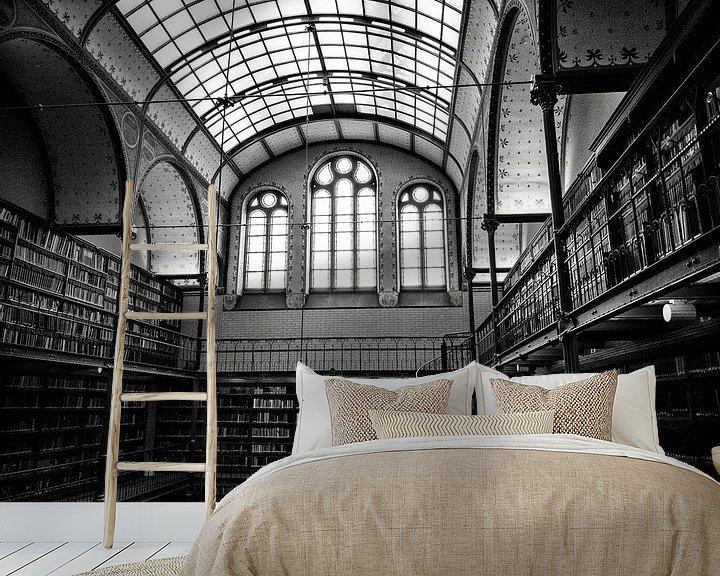 Sfeerimpressie behang: Bibliotheek van Voyant One