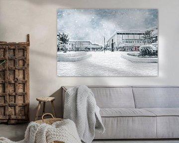 Nieuwe Markt in Roosendaal is omgetoverd in een Winter Wonderland