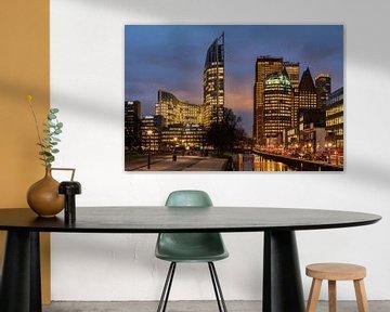 Megagrote foto van skyline van Den Haag (2) von Rob IJsselstein