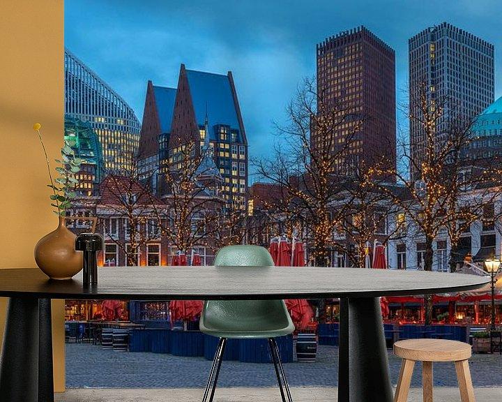 Beispiel fototapete: Megagrote foto van skyline van Den Haag (1) von Rob IJsselstein