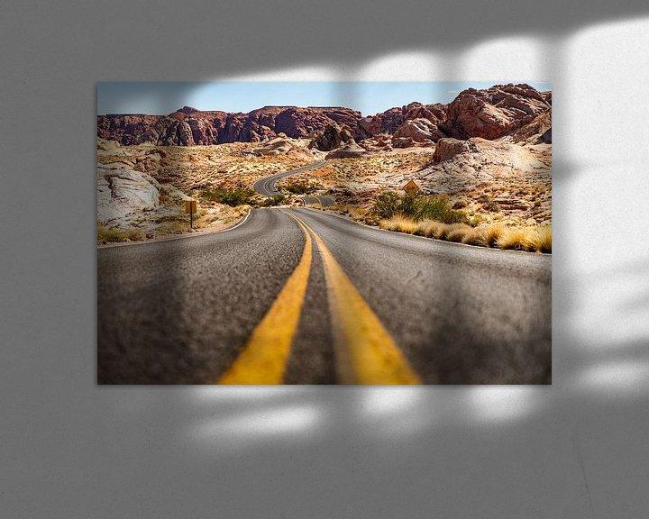 Beispiel: Valley of Fire state park - Nevada - Las Vegas von Martijn Bravenboer