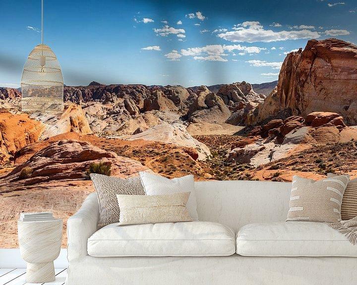 Beispiel fototapete: Valley of Fire state park - Nevada - Las Vegas von Martijn Bravenboer