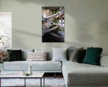 Escalier abandonné d'Escher. sur Roman Robroek