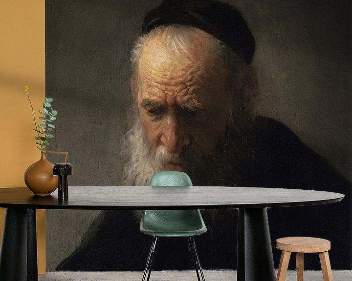 Beispiel fototapete: Der Kopf eines alten Mannes, Rembrandt van Rijn