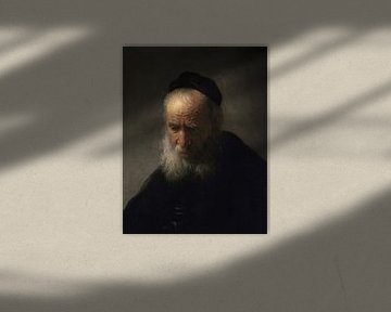 Der Kopf eines alten Mannes, Rembrandt van Rijn