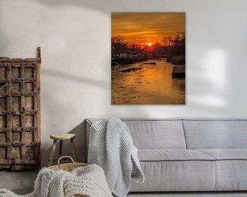 Zonsondergang aan de Piushaven
