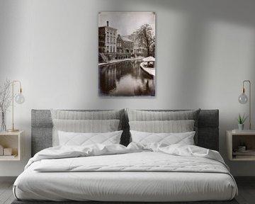 Oudegracht im Winter von Jan van der Knaap
