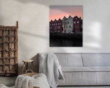 Zonsondergang in Bergen op Zoom von Kim de Been