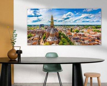Skyline Groningen met de Der-Aa kerk von Jacco van der Zwan