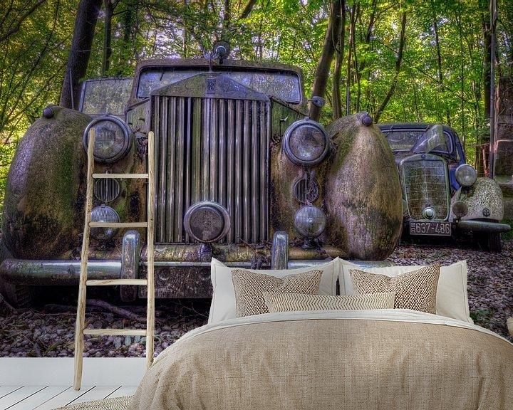 Sfeerimpressie behang: Rolls Royce van Henny Reumerman
