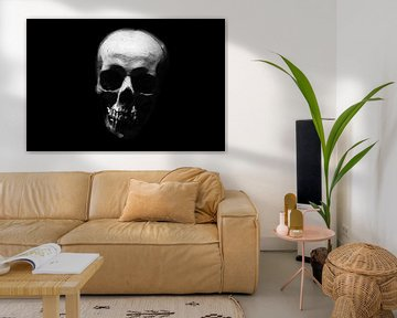 Schwarz-weißer Schädel von Patrick Verhoef