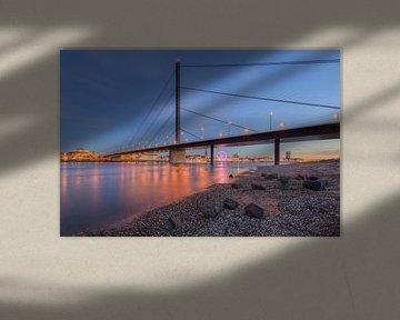 Oberkasseler bridge in Dusseldorf van Michael Valjak