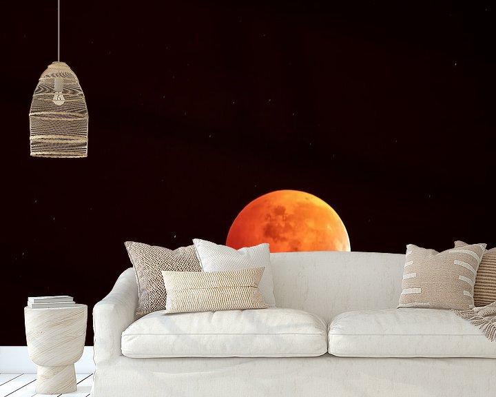 Beispiel fototapete: Rode bloedwolf maan in het heelal von Marc Crutzen