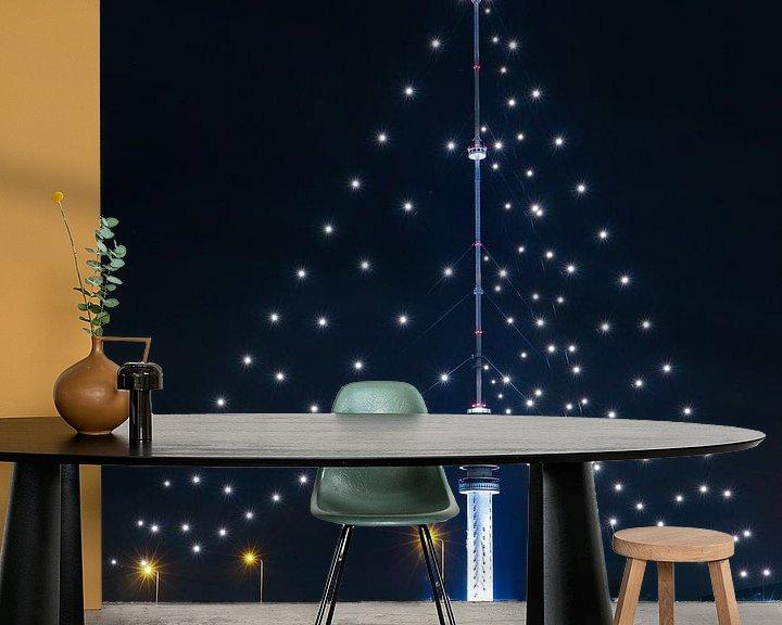 Sfeerimpressie behang: Gerbrandytoren grootste kerstboom van Ronald Molegraaf