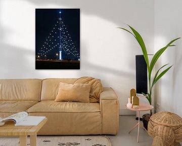 Gerbrandytoren grootste kerstboom van Ronald Molegraaf