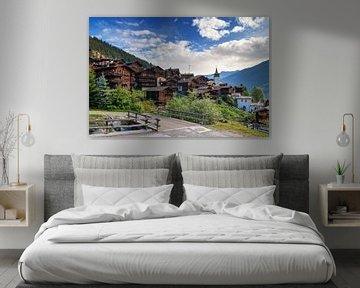 Grimentz Zwitserland in de zomer von Dennis van de Water
