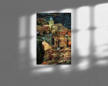 Dächer von Albarracín von Lars van de Goor