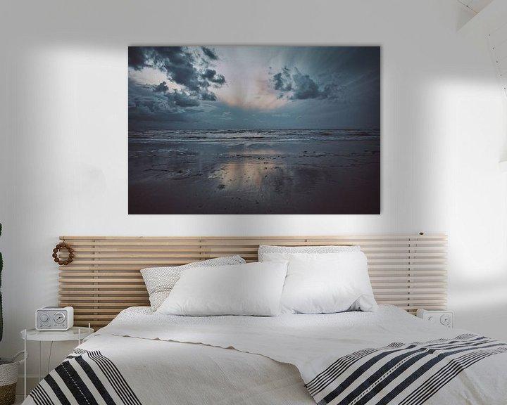 Sfeerimpressie: Strand bij Wijk Aan Zee van Niek van den Berg