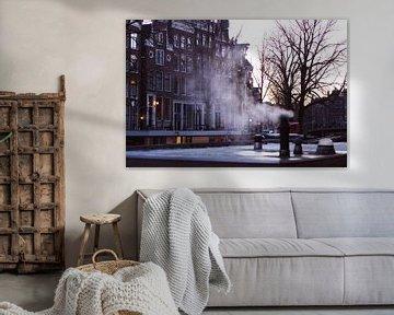 Winter morning in Amsterdam