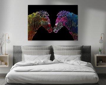 Colored zebra von PictureWork - Digital artist