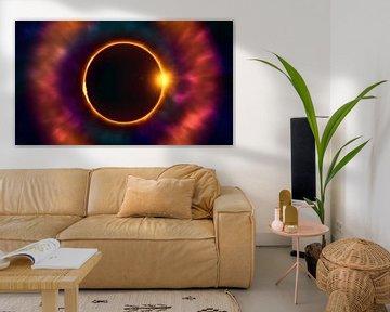 Totale Sonnenfinsternis tief im Weltraum von Mike Maes