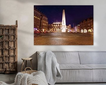 Monument op de Dam in Amsterdam bij nacht von Nisangha Masselink