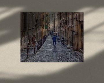 Belle scène de rue de Rome sur Natascha Worseling