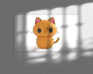 Kat in Kawaii stijl von Arjan Schrauwen