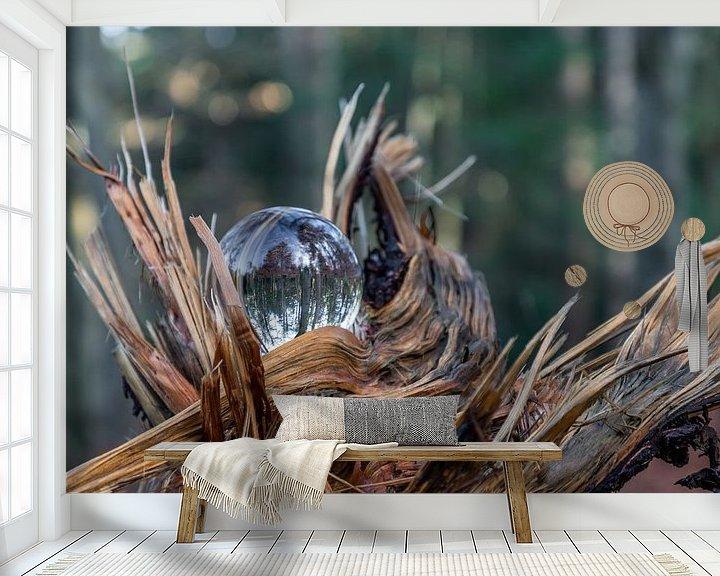 Sfeerimpressie behang: Glas in de natuur van Henry Nijen Twilhaar