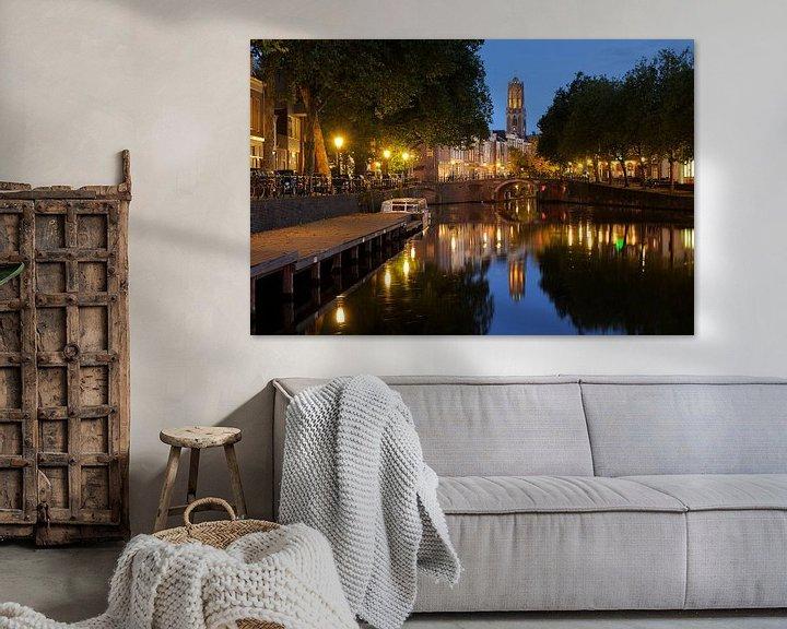 Beispiel: Blick auf Zandbrug und Oudegracht Utrecht von Donker Utrecht