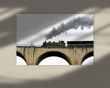 Stoomtrein Martel Frankrijk van Wybrich Warns