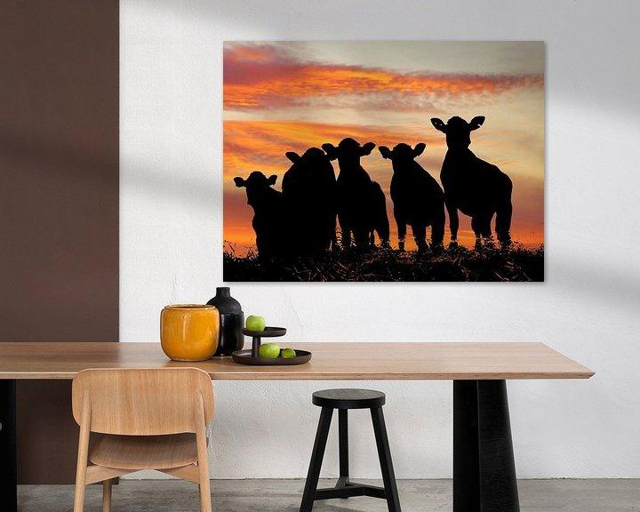 Sfeerimpressie: Sunset cows van Annemieke van der Wiel