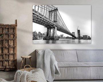 Manhattan Bridge New York von Rene Ladenius Digital Art