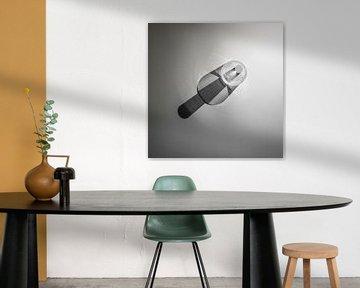 minimalistisch abstract zwart/wit beeld von Anneloes van Dijk