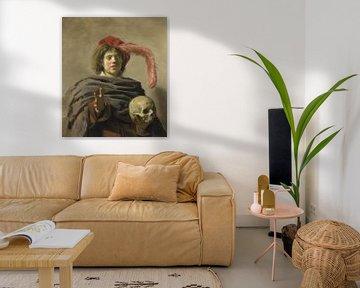 Junger Mann mit einem Schädel, Frans Hals
