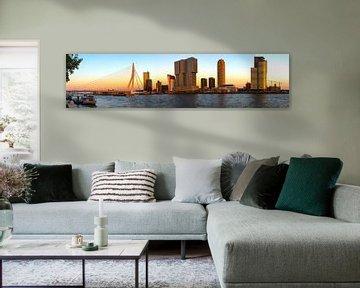 Panorama Skyline Rotterdam van Thomas Eckhardt