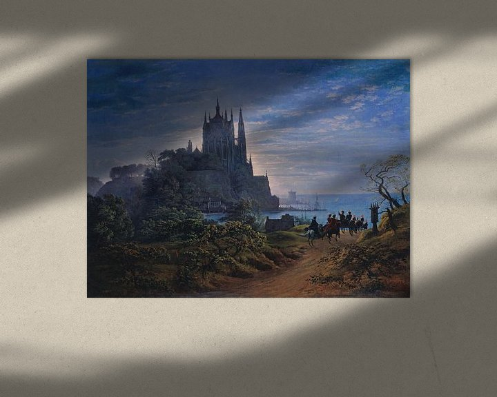 Beispiel: Gotische Kirche auf einem Felsen am Meer, Karl Friedrich Schinkel