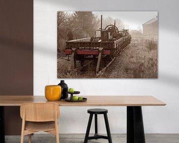 Oud treinstel van Wybrich Warns