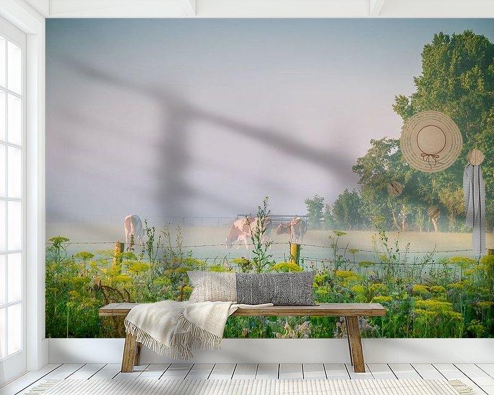 Beispiel fototapete: Kühe auf einer Weide von Martijn Tilroe