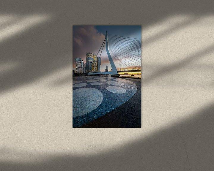 Sfeerimpressie: Erasmusbrug Noordereiland - Rotterdam van Prachtig Rotterdam